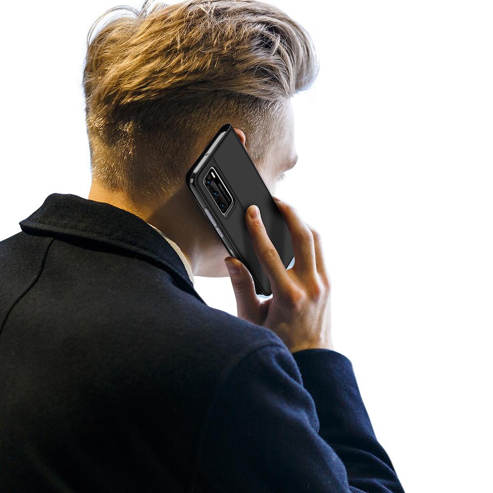 Dux Ducis Pro serie slim wallet Zwart hoes voor de Huawei P40