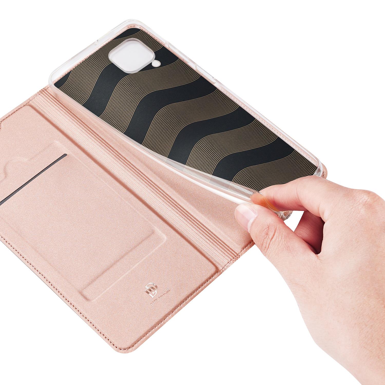 Dux Ducis Pro serie slim wallet Rose Goud hoes voor de Huawei P40 Lite