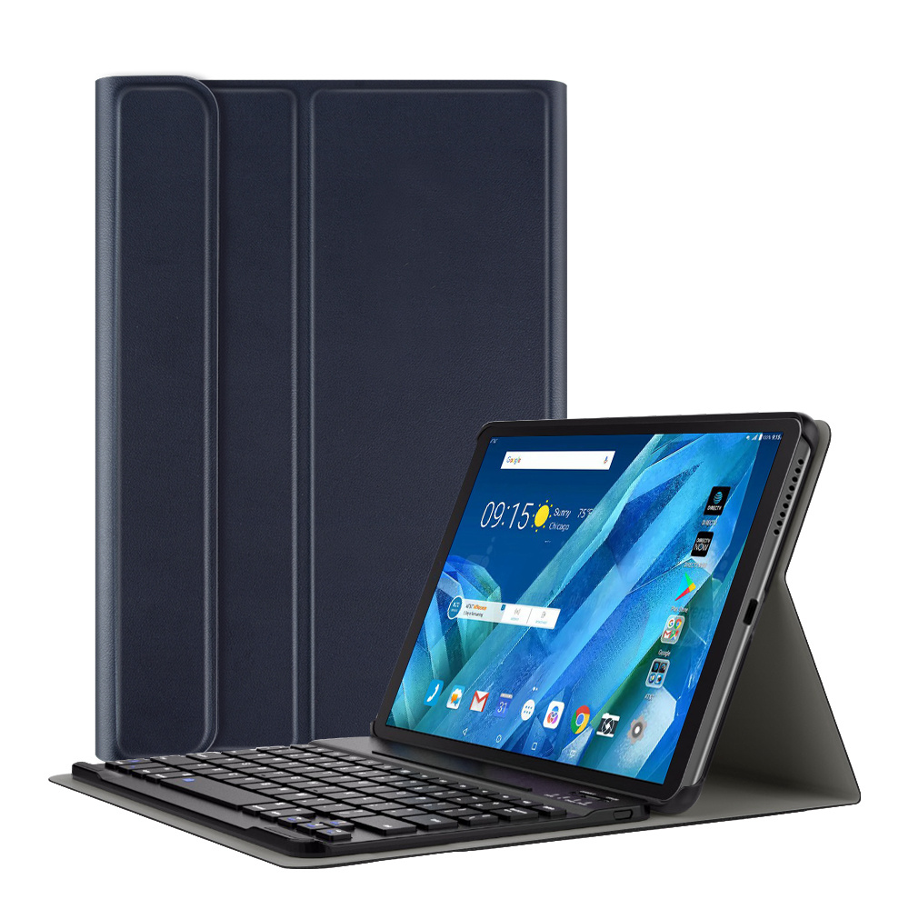 Lunso Afneembare Keyboard hoes Blauw voor de Lenovo Tab M10