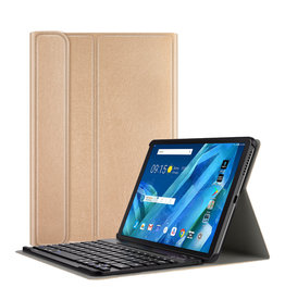 Lunso Lunso - afneembare Keyboard hoes - Lenovo Tab M10 - Goud