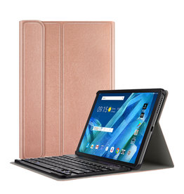 Lunso Lunso - afneembare Keyboard hoes - Lenovo Tab M10 - Rose Goud