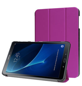 Lunso 3-Vouw sleepcover hoes - Samsung Galaxy Tab A 10.1 inch (2016) - Paars