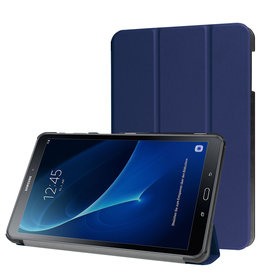 Lunso 3-Vouw sleepcover hoes - Samsung Galaxy Tab A 10.1 inch (2016) - Blauw
