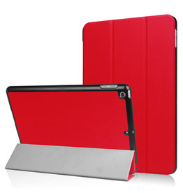 Lunso 3-Vouw sleepcover hoes - iPad 9.7 (2017/2018) - Rood