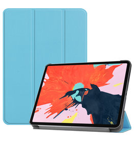 Lunso 3-Vouw sleepcover hoes - iPad Pro 12.9 inch (2020) - Lichtblauw