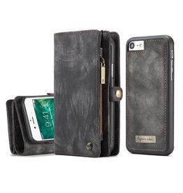 Caseme Caseme - vintage 2 in 1 portemonnee hoes - iPhone 7 / 8 / SE (2020) - Grijs