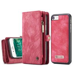 Caseme Caseme - vintage 2 in 1 portemonnee hoes - iPhone 7 / 8 / SE (2020) - Rood