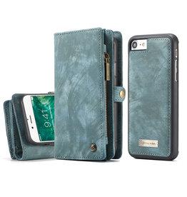 Caseme Caseme - vintage 2 in 1 portemonnee hoes - iPhone 7 / 8 / SE (2020) - Blauw