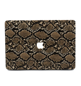 Lunso Lunso - cover hoes - MacBook Air 13 inch (2010-2017) - Snake Pattern Brown