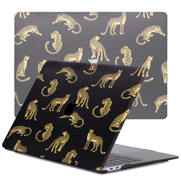Lunso Lunso - cover hoes - MacBook Air 13 inch (2020) - Leopard Black