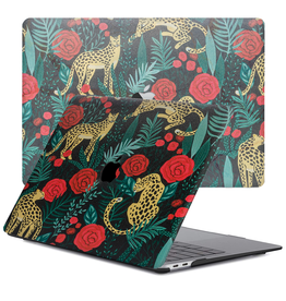 Lunso Lunso - cover hoes - MacBook Air 13 inch (2020) - Leopard Roses