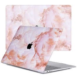 Lunso Lunso - cover hoes - MacBook Air 13 inch (2020) - Marble Finley