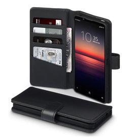 Qubits Qubits - luxe echt lederen wallet hoes - Sony Xperia 1 II - Zwart
