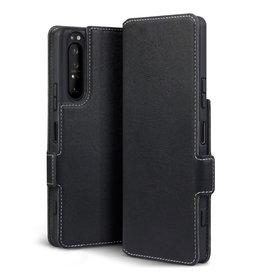 Qubits Qubits - slim wallet hoes - Sony Xperia 1 II - Zwart
