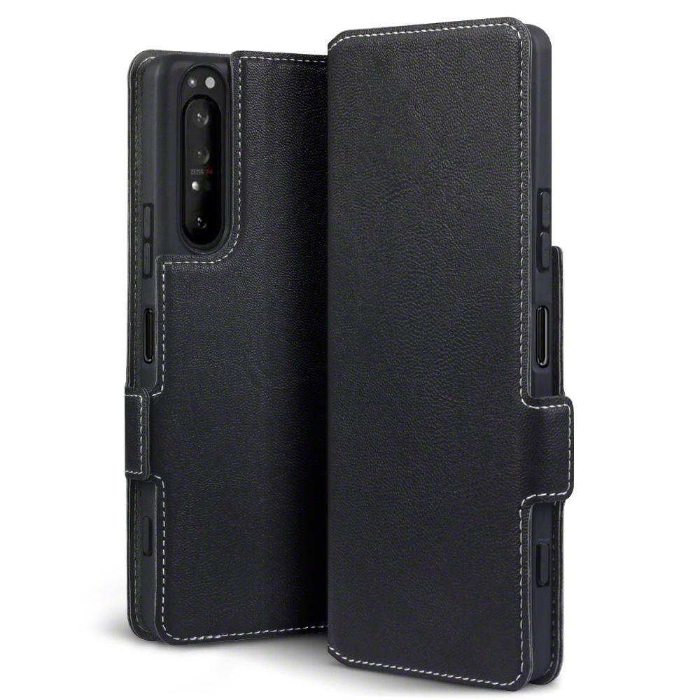 Qubits Slim wallet Zwart hoes voor de Sony Xperia 1 II