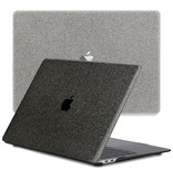 Lunso Glitter Zwart cover hoes voor de MacBook Air 13 inch (2020)