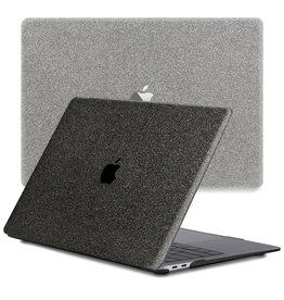 Lunso Lunso - cover hoes - MacBook Air 13 inch (2020) - Glitter Zwart