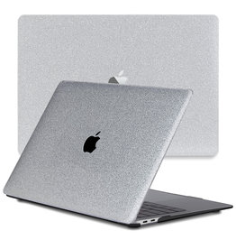 Lunso Lunso - cover hoes - MacBook Air 13 inch (2020) - Glitter Zilver