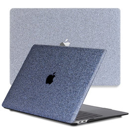 Lunso Lunso - cover hoes - MacBook Air 13 inch (2020) - Glitter Blauw
