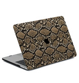 Lunso Snake Pattern Brown cover hoes voor de MacBook Air 13 inch (2020)