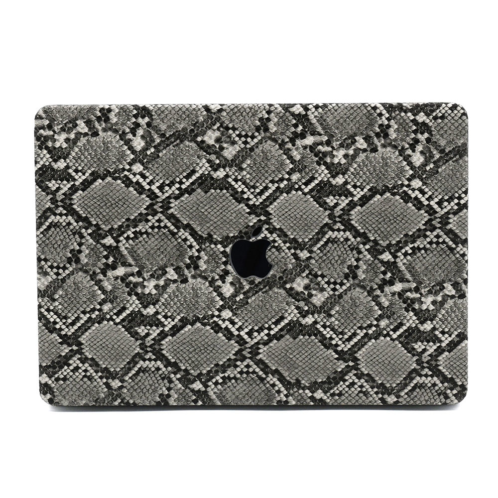 Lunso Snake Pattern Grey cover hoes voor de MacBook Air 13 inch (2020)