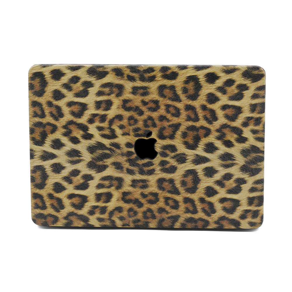 Lunso Leopard Pattern Brown cover hoes voor de MacBook Air 13 inch (2020)