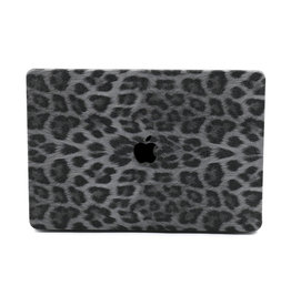 Lunso Lunso - cover hoes - MacBook Air 13 inch (2018-2019) - Leopard Pattern White