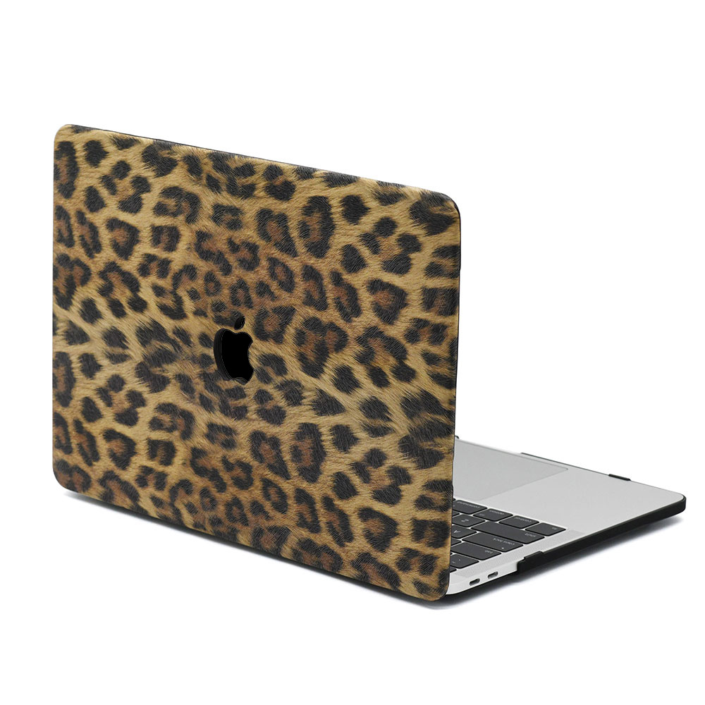 Lunso Leopard Pattern Brown cover hoes voor de MacBook Air 13 inch (2018-2019)