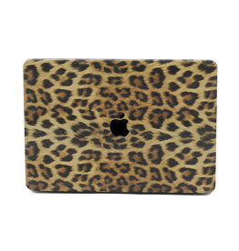 Lunso Lunso - cover hoes - MacBook Air 13 inch (2018-2019) - Leopard Pattern Brown