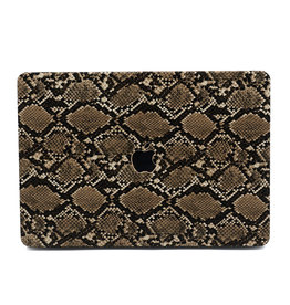 Lunso Lunso - cover hoes - MacBook Air 13 inch (2018-2019) - Snake Pattern Brown