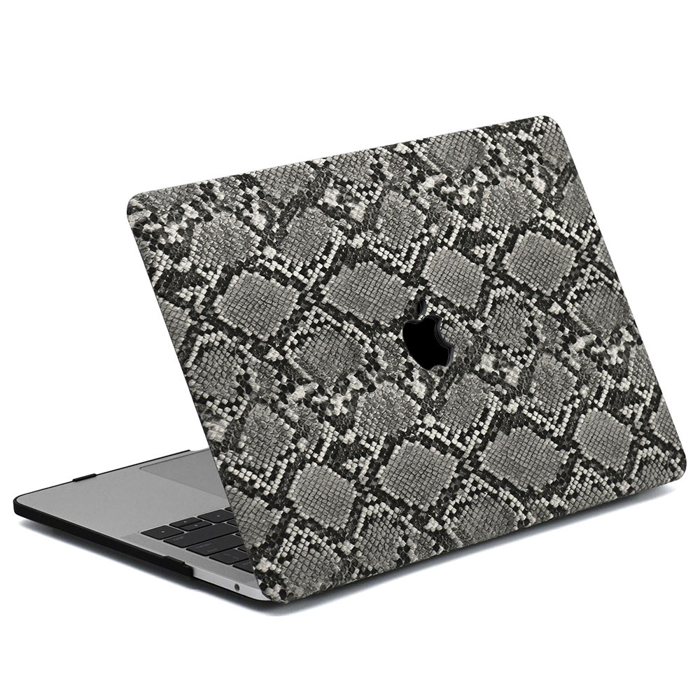 Lunso Snake Pattern Grey cover hoes voor de MacBook Air 13 inch (2018-2019)