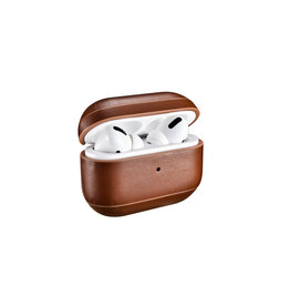 Lunso Icarer - Echt lederen cover hoes - AirPods Pro - Donkerbruin