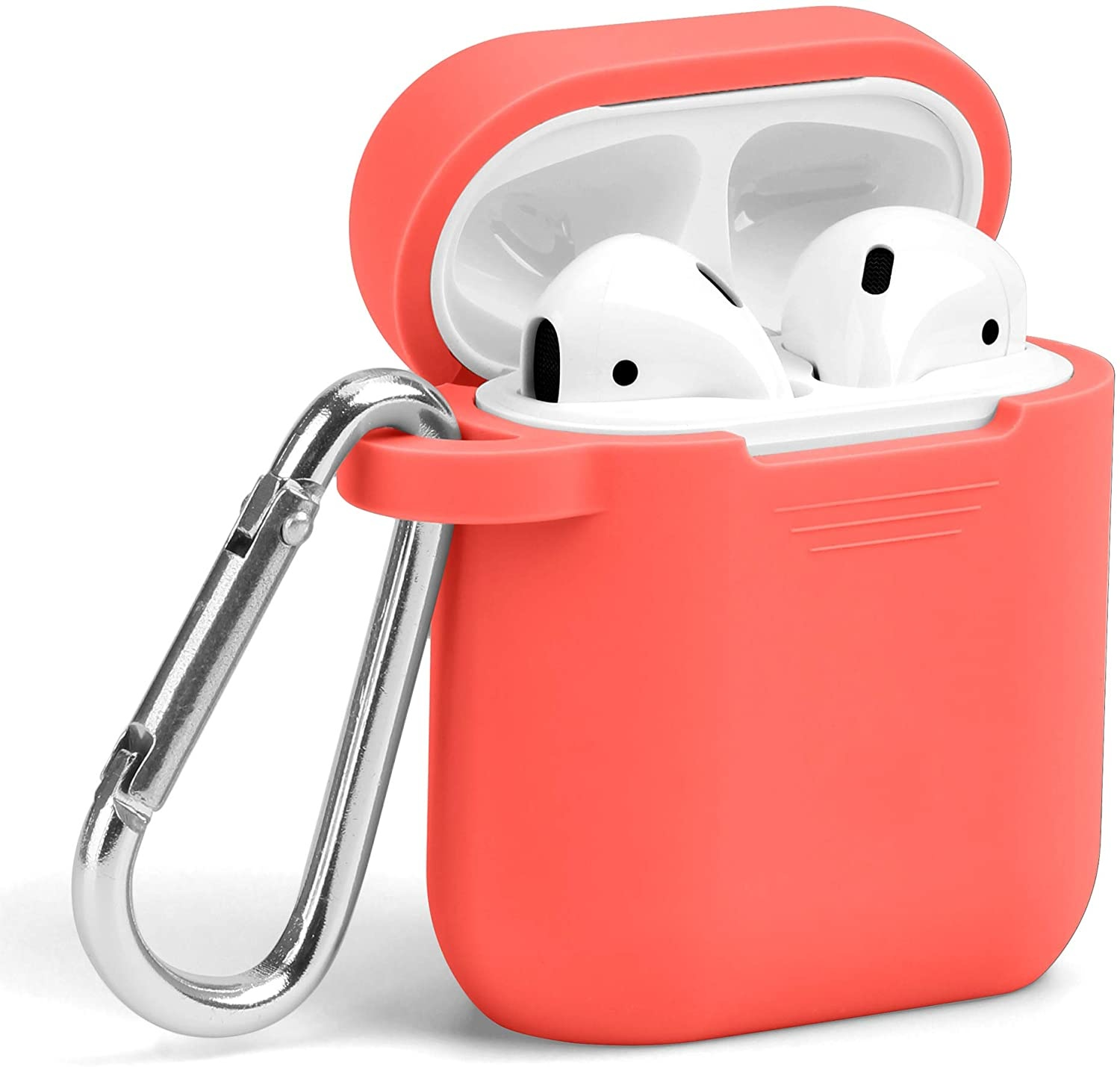 Lunso Softcase cover hoes Oranje voor de AirPods 1 en 2