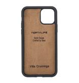 NorthLife Echt lederen uitneembare 2-in-1 (RFID) bookcase hoes Villa Cruoninga Cognac voor de iPhone 11 Pro