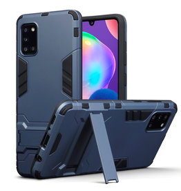 Qubits Qubits - Double Armor Layer hoes met stand - Samsung Galaxy A31 - Blauw