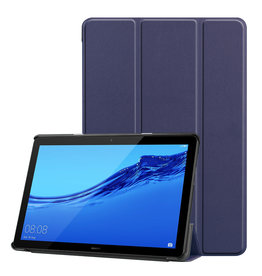 Lunso 3-Vouw sleepcover hoes - Huawei MediaPad T5 10 - Blauw