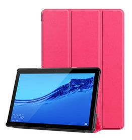 Lunso 3-Vouw sleepcover hoes - Huawei MediaPad T5 10 - Roze