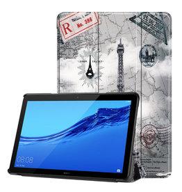 Lunso 3-Vouw sleepcover hoes - Huawei MediaPad T5 10 - Eiffeltoren