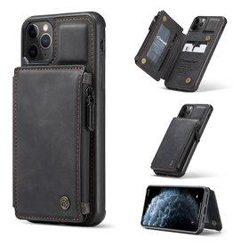 Caseme Caseme - Backcover portemonnee hoes - iPhone 11 Pro Max - Grijs