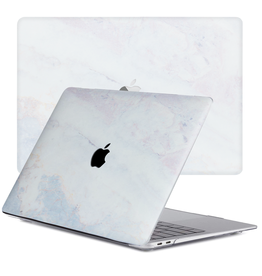 Lunso Lunso - cover hoes - MacBook Pro 13 inch (2020) - Marble Brees