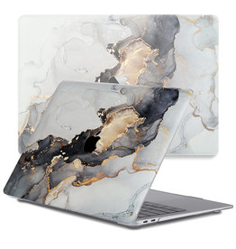 Lunso Lunso - cover hoes - MacBook Pro 13 inch (2020) - Marble Magnus