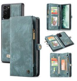 Caseme Caseme - vintage 2 in 1 portemonnee hoes - Samsung Galaxy Note 20 - Blauw