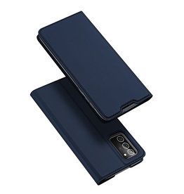 Dux Ducis Dux Ducis - pro serie slim wallet hoes - Samsung Galaxy Note 20 - Blauw