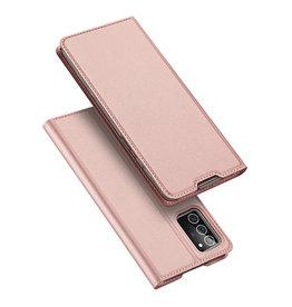 Dux Ducis Dux Ducis - pro serie slim wallet hoes - Samsung Galaxy Note 20 - Rose goud