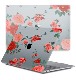Lunso Lunso - cover hoes - MacBook Pro 13 inch (2020) - Red Roses