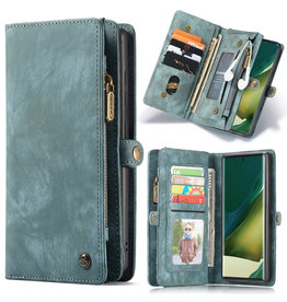 Caseme Caseme - vintage 2 in 1 portemonnee hoes - Samsung Galaxy Note 20 Ultra - Blauw