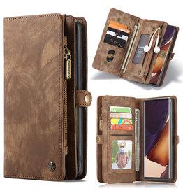 Caseme Caseme - vintage 2 in 1 portemonnee hoes - Samsung Galaxy Note 20 Ultra - Bruin