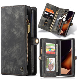 Caseme Caseme - vintage 2 in 1 portemonnee hoes - Samsung Galaxy Note 20 Ultra - Zwart