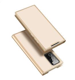 Dux Ducis Dux Ducis - pro serie slim wallet hoes - Samsung Galaxy Note 20 Ultra - Goud