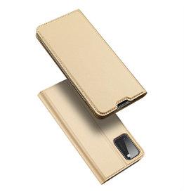 Dux Ducis Dux Ducis - pro serie slim wallet hoes - Samsung Galaxy A41 - Goud